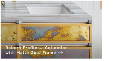 Robern Profiles™ Collection with Matte Gold Frame