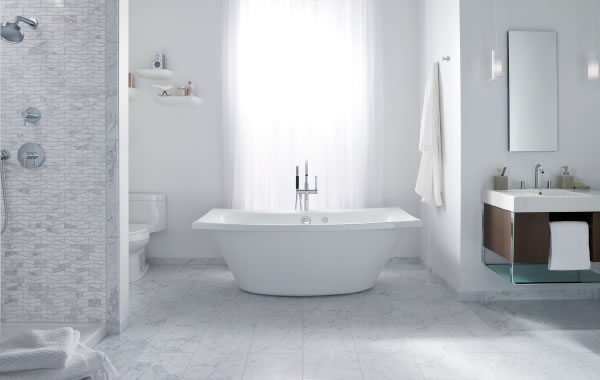 Why We Love White Bathrooms