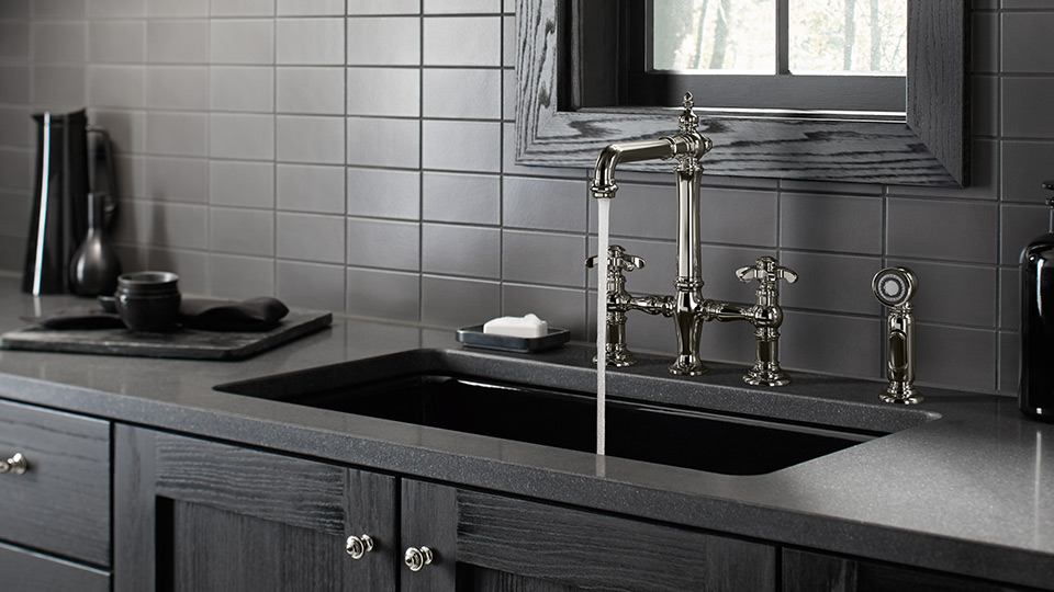 Artifacts® Bridge kitchen faucet