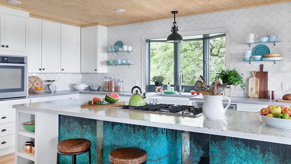 Gulf Coast beach house kitchen