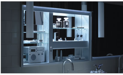 robern® OPEN THE DOOR to cabinet technology.
