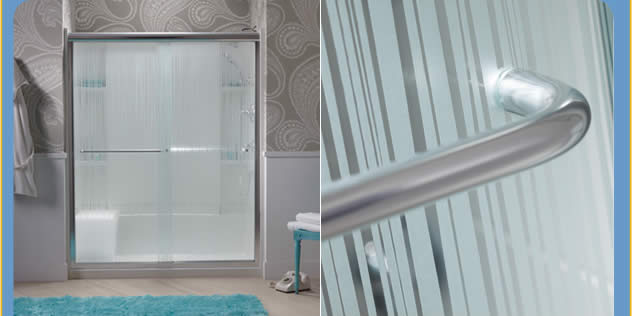 Breathe new life into your bathroom with one of the beautiful new STERLING bath and shower door designs.